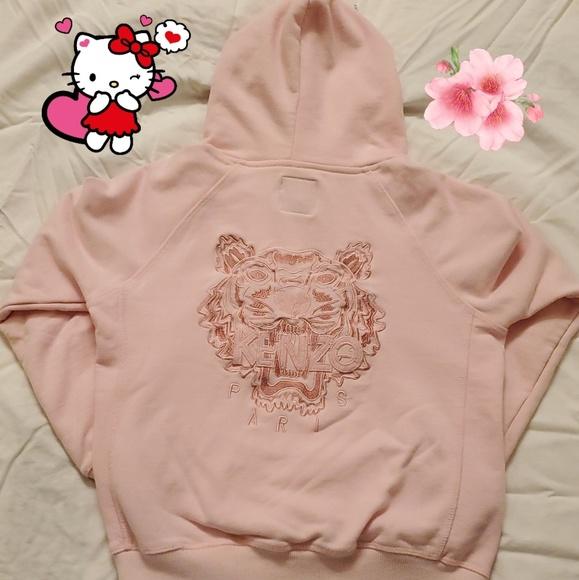 2cd222376cb Girls pink KENZO tiger hoodie sweatshirt